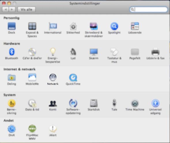 opsætning indstillinger konfiguration vpn apple mac os x openvpn